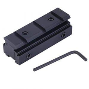 Elviray Picatinny 11mm à 20mm Queue d'aronde à Weaver Rail Mount Base Adapter Scope Mount Converter pour Rifle Flashlight Laser Sight Gratuit