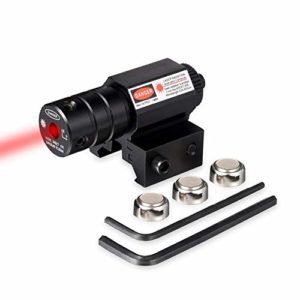 Hauska Mini Viseur Laser Rouge pour Pistolet Fusil Pistolet avec Monture Picatinny