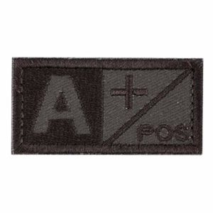 SHUANGCONG Patch 3D pour Groupe sanguin AB AB O POS NEG Coyote Tan OD Vert Patch OD Vert