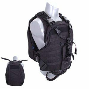 TBDLG Bulletproof Vest, Sac à Dos Pare-balles, Sac à Dos Tactique Protection Anti-piqûre Gilet Anti-terroriste Protection du Buste Combat