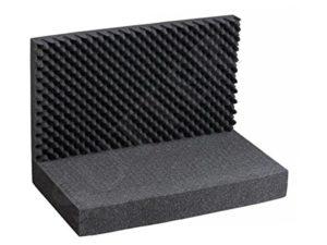Tapis de mousse avec grille/dessus et dessous (3pièces)/Dimensions:43x 33cm/pour mallette en aluminium, valise mallette à armes, coffre à pistolet et fusil.