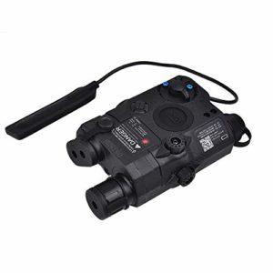 vert chasse combo laser, lampe de poche et lampe infrarouge pour viseur de fusil airsoft, avec télécommande filaire sous pression, rails Picatinny de 20mm(noir)