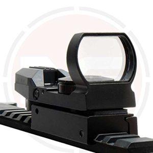 In Your Sights Holographique Reflex Vision/Résistant aux Chocs Rouge & Vert Pointillé Fusil Mire – Fixation par Rail (20mm) montages