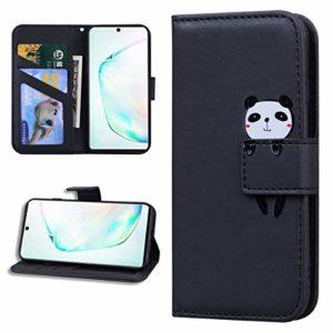 Miagon Animal Flip Coque pour Samsung Galaxy S8,Portefeuille PU Cuir TPU Cover Désign Étui Folio à Rabat Magnétique Stand Wallet Case,Noir