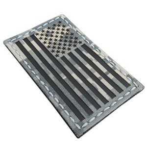 ACU Infrared IR USA American Flag 3.5×2 IFF Tactical Morale Touch Fastener Patch