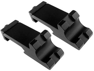 Airsoft magic Metal 45 Degree Offset Rail Mount for 20mm Rail 2 Pack – Black