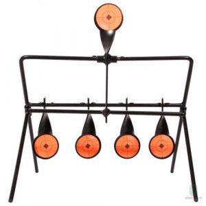ARSUK BB Airsoft Cible de tir, Papier, Support métal, Chasse Support métalAuto Réinitialiser Spinning Accessoires pour Sport Pratique entraînement en Plein air (Cible Swinging)