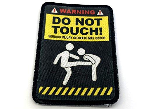 Attention NE pas toucher Cosplay Airsoft Sublimé Moral Patch
