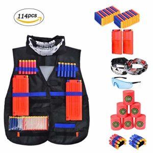 Battop Veste tactique kit pour pistolet Nerf N-Strike Elite Cadeau idéal pour garçons, Set02