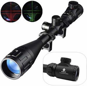 Beileshi Lunette De Visée 6-24x50mm Avec Lumineux De Réticule Optique Rouge Vert Rifle Scope