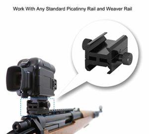 Bestguarder Adaptateur de Pince pour Montage sur Rail Picatinny à Picatinny SYA-101