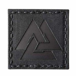 Blackout Infrared IR Viking Valknut Norse 2×2 IFF Tactical Morale Touch Fastener Patch