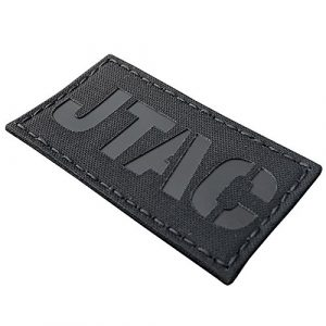 Blackout JTAC Joint Terminal Attack Controller Air Support FAC Infrared IR 3.5×2 Tactical Morale Touch Fastener Patch