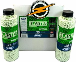 Blaster Airsoft BBS 25 Gram Box and Patch by First and Only Airsoft, Airsoft Gun Ammunition – Very Accurate BBS in an Amazing 12 bottle/36000 Shots Bulk Deal
