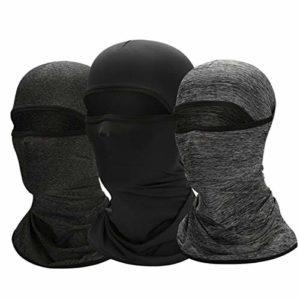 Cagoule de course – Masque de protection UV – Pour homme et femme – Masque tactique – 3 pièces