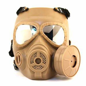 CBAQ Masque de Protection intégral à gaz avec Lunettes, avec Ventilateur monoculaire, Masque de respirateur Industria pour la poussière, édition CS Sports de Plein air Tactique Paintball