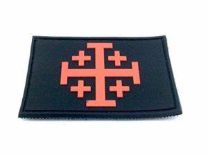 Croix de Jérusalem Templiers Airsoft PVC Morale Patch