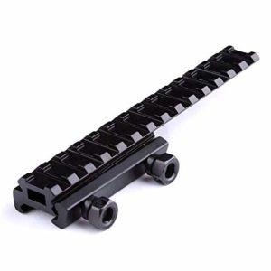 DETECH Tactique 20mm 14 Slots Picatinny Weaver Rail Extension De Portée QD Long Riser Montures Base Adaptateur Convertisseur pour La Chasse Airsoft