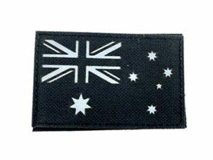 Écusson Brodé Drapeau Australien Noir réfléchissant Tactique Airsoft Paintball Cosplay Patch