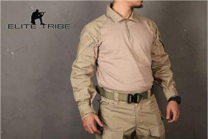 Elite Tribe Airsoft Militaire Tactique Shirt Combat Gen3 Shirt Khahi, Kahi, m
