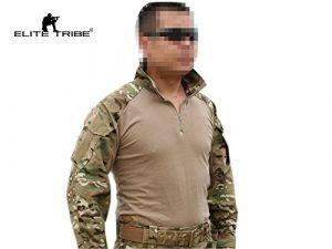 Elite Tribe Airsoft Militaire Tactique Shirt Combat Gen3 Shirt Multicam MC, m