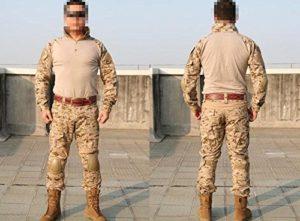 Emerson France Uniforme Tactique Combat Set Génération 2 AOR1 Digital DesertPlusieurs tailles (L)