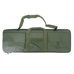 Étui Sacoche Fusil–Bandoulière pour la chasse airsoft Vert militaire 88cm