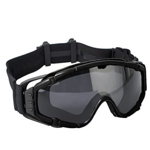 FMA -Lunettes Réglées Tactiques SI-Ballistic avec Ventilateur Lunettes Fan Airsoft pour Sports de Ski et Vélo – Noir …