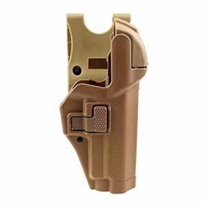 Gexgune Holster Tactique de Dissimulation Militaire, Niveau 3, Serrure, étui de Ceinture, Pistolet et étui de Pistolet pour Beretta 92/96 / M9 / M9A1 (Havane)