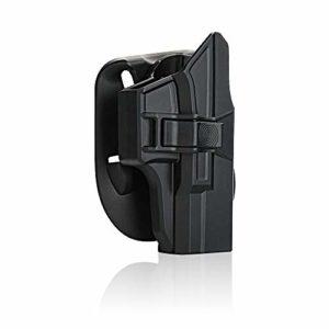 Glock Paddle Holster Fit Glock 17 19 22 23 26 27 31 32 33 34 (Gen1-4), OWB Carry RH, étui en polymère avec déclencheur réglable réglable par efluky