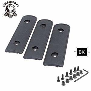HATCHMATIC 4 & Quot; High Impact polymère Noir Tan OD Rail Panneau Section Handguard Couverture pour KeyMod Rail Handguard Têtière de/Pack: Noir