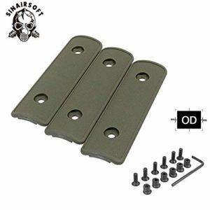 HATCHMATIC 4 & Quot; High Impact polymère Noir Tan OD Rail Panneau Section Handguard Couverture pour KeyMod Rail Handguard Têtière de/Pack: OD