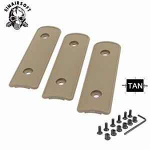 HATCHMATIC 4 & Quot; High Impact polymère Noir Tan OD Rail Panneau Section Handguard Couverture pour KeyMod Rail Handguard Têtière de/Pack: Tan