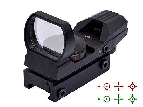 Hauska Tactique Viseur Airsoft Point Rouge Chasse 4 Réticule 5 Luminosité Réglages Viseur Point Rouge (Noir)