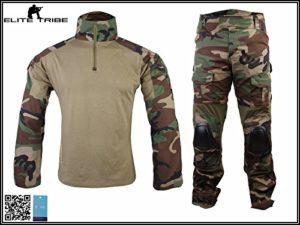 homme airsoft uniforme de combat Gen2 uniforme tactique uniforme militaire Woodland (XL)