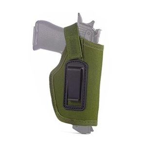 HWZ Concealed Belt Holster Ambidextrous Holster for Compact Subcompact Pistols Durable (Green)