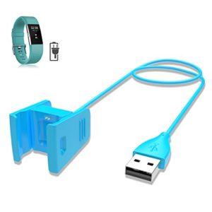 ifeeker Fitbit Charge Chargeur 2, 1,8m Adaptateur de station d'accueil Support Chargeur de rechange, câble de charge USB pour bracelet Fitbit Charge 2taux Cœur Fitness Bracelet, noir