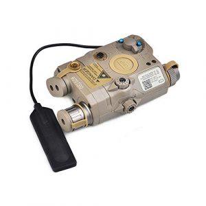 IRON JIA'S Vert Chasse Combo Laser, Lampe de Poche et Lampe Infrarouge pour viseur de Fusil Airsoft, avec télécommande Filaire sous Pression, Rails Picatinny de 20mm(désert)
