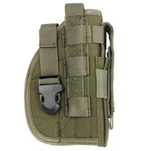 L 'étui à pistolet holster molle tactique de Glock 1911459296avec la poche de Magazine pour Airsoft Chasse, Army Green, Free size