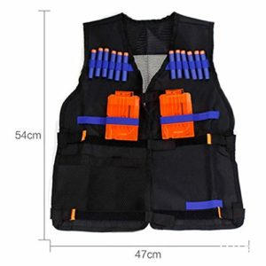 LOTONJT Gilet Tactique Noir,Gilet Tactique Militaire Gilet Ajustable pour Les Accessoires De Pistolet
