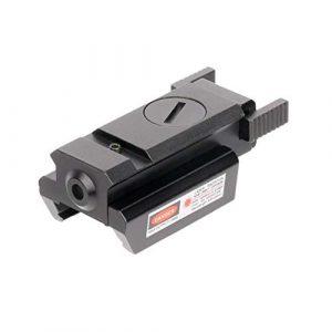Meteorax Pointeur Tactique Visant Mini Rayon Rouge Dot Laser Sight Portée pour Rifle Main Pistolet À Air Laser Sight Weaver Rail Picatinny Rail, 20mm