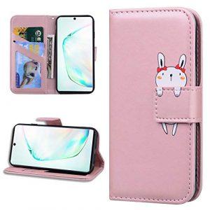 Miagon Animal Flip Coque pour Samsung Galaxy S7,Portefeuille PU Cuir TPU Cover Désign Étui Folio à Rabat Magnétique Stand Wallet Case,Or rose