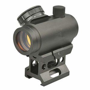 Minidiva Lunette de visée MOA Micro Red Dot Sight 1x25mm avec Monture High Rail 20mm