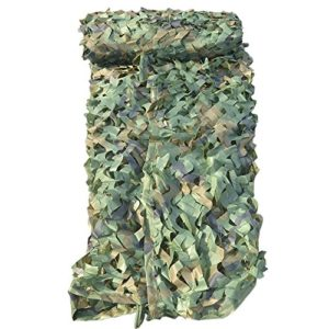 Mitefu Filet de Camouflage Heavy-Duty Woodland de la Coutume Couverture pour Camping Chasse Tir Décoration Parasol, lot DE 2
