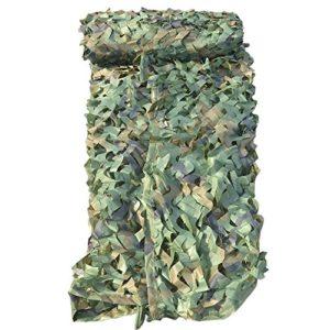 Mitefu Filet de Camouflage Woodland Couverture pour Camping Chasse Tir Parasol,1x2m 1.5x4m 2x3m 3x3m 3x4m 4x5m 5x6m 6x6m etc,lot DE 1