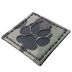 Multicam Infrared IR K9 Dog Handler Paw K-9 2×2 Laser Cut Reflective Tactical Morale Hook-and-Loop Écusson Patch