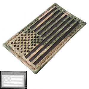 Multicam Infrared IR USA American Flag 3.5×2 IFF Tactical Morale Hook&Loop Patch
