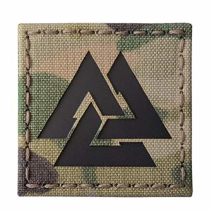 Multicam Infrared IR Viking Valknut Norse 2×2 IFF Tactical Morale Touch Fastener Patch