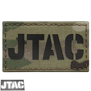 Multicam JTAC Joint Terminal Attack Controller Air Support FAC Infrared IR 3.5×2 Tactical Morale Touch Fastener Patch