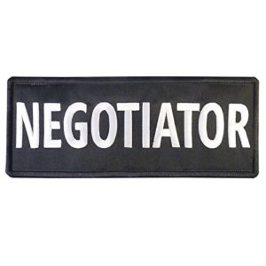 NEGOTIATOR Big XL 10×4 inch SWAT POLICE Vest Tactical Embroidered Nylon Fastener Écusson Patch